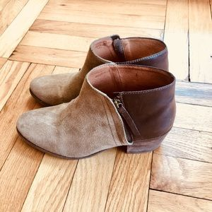 Madewell - Suede Leather Booties (size 7.5)